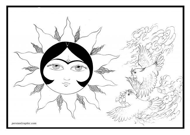 عکس نقاشی خورشید خانم